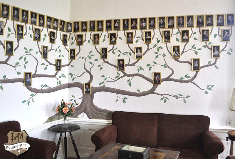 Как сделать древо семьи на стене своими руками
