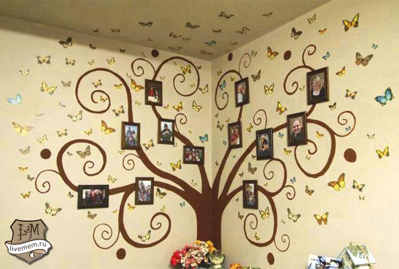 Семейное дерево своими руками нарисовать на бумаге фото