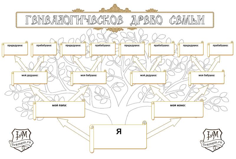Раскраска генеалогического дерева